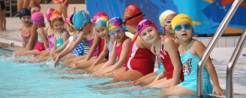 Дворец водных видов спорта - Первые занятия по плаванию
