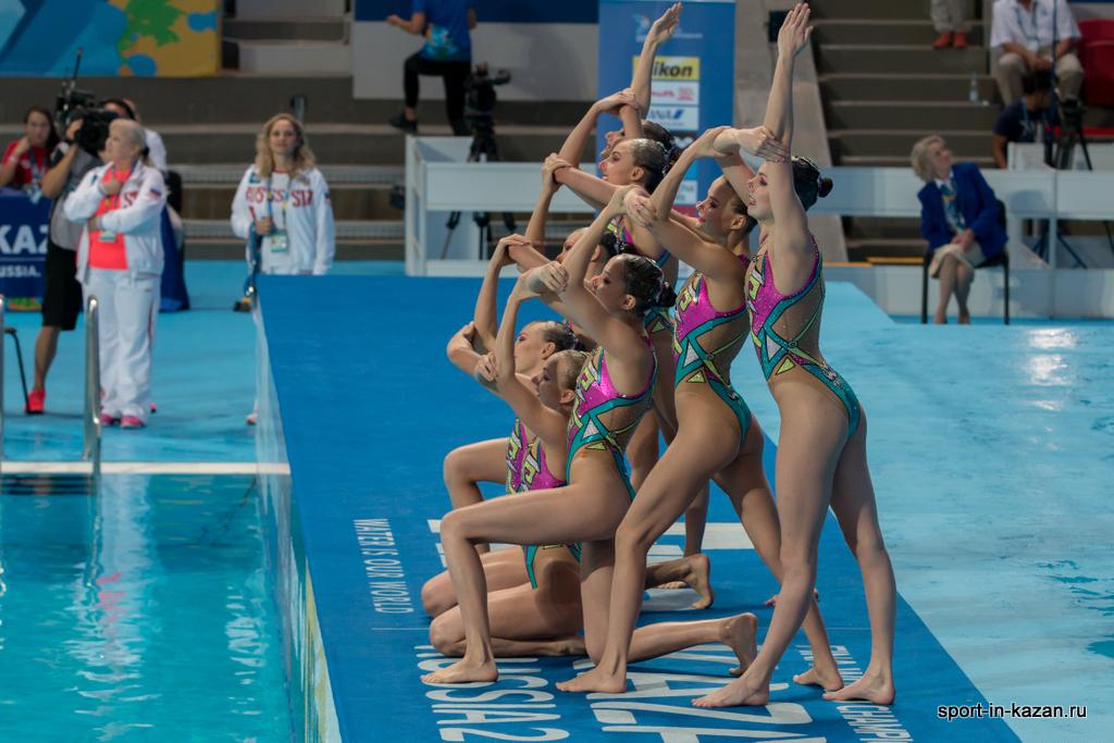 Сборная России по синхронному плаванию. Начало выступления.