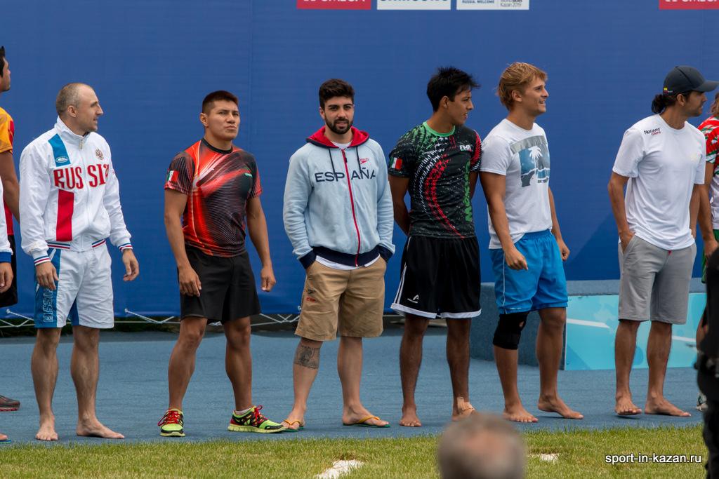 Участники Чемпионата Мира по водным видам спорта. Хай-дайвинг. Мужчины.