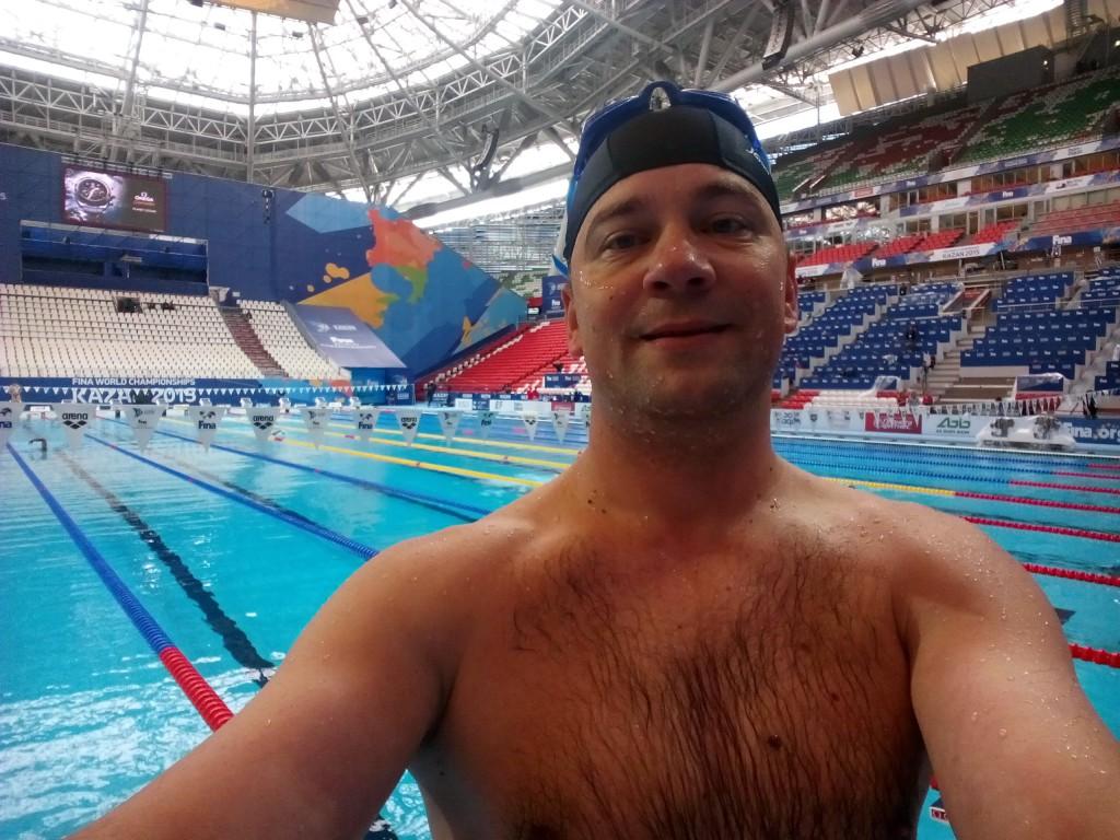 В бассейне на Казань-Арене