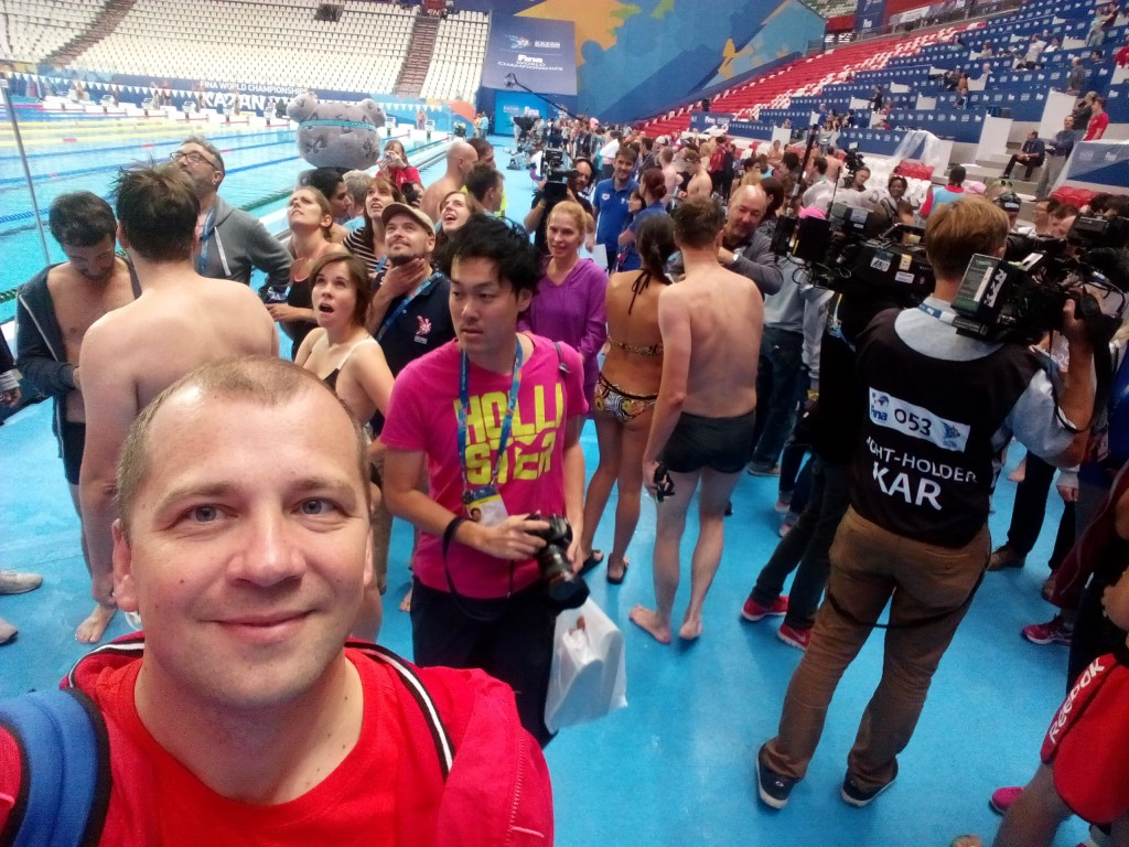 После заплыва в Казань-Арене