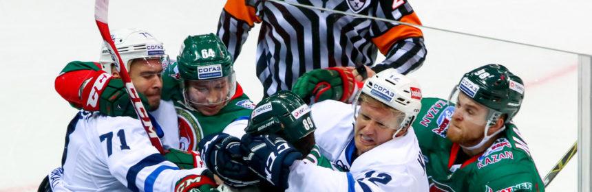 После этой потасовки хоккеисты Динамо забили 4 безответные шайбы
