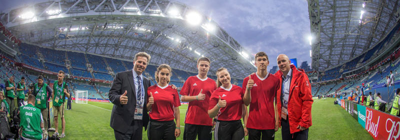 Юные атлеты из Специальной Олимпиады стали флагоносцами на Кубке Конфедераций FIFA