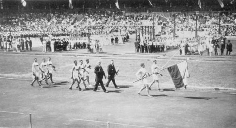 Команда Чили на церемонии открытия Олимпийских игр