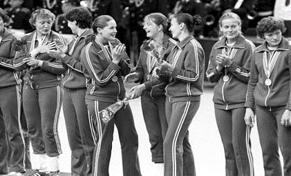 Члены женской сборной СССР по гандболу, чемпионы Олимпиады-80