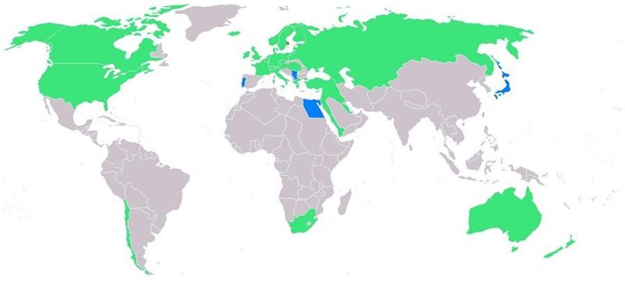 Страны-участницы V Олимпийских игр