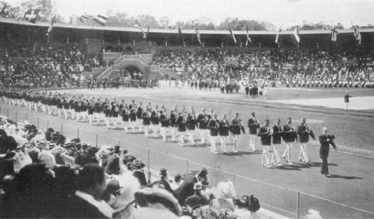 Делегация США на церемонии открытия Олимпиады