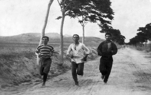 Тренировка марафонцев к Олимпиаде в Афинах (1896)