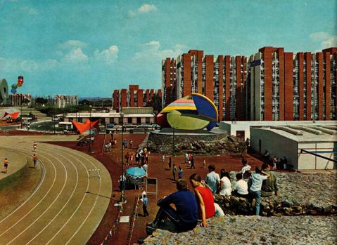 Олимпийская деревня в Мехико 1968